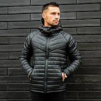 Зимняя мужская куртка сделана под бренд найк .стеганная .стильная курточка поспеши заказать