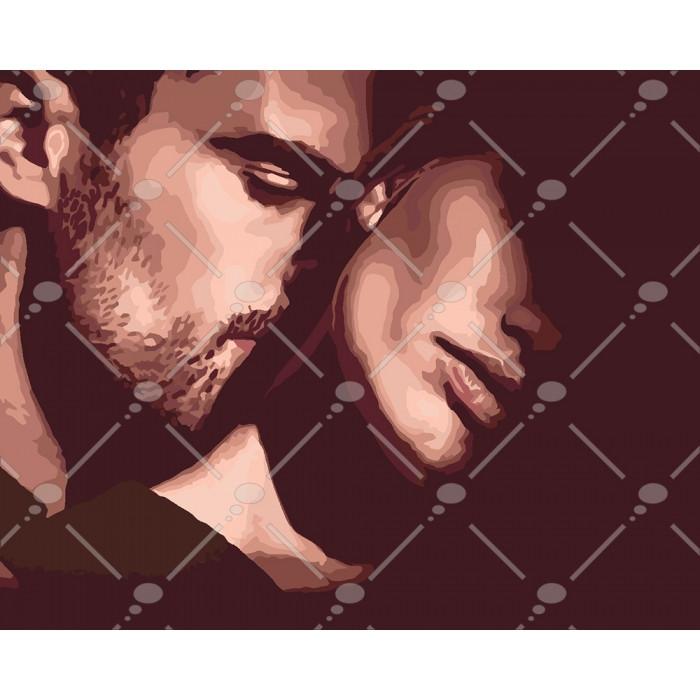 Картина по номерам Дотик кохання, 40x50см., Идейка
