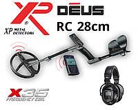 Металлоискатель XP DEUS 28 RC (X35) с обновленной катушкой 28 см и беспроводными наушниками WS5