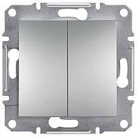 Выключатель двухклавишный Schneider Electric Asfora Plus цветная