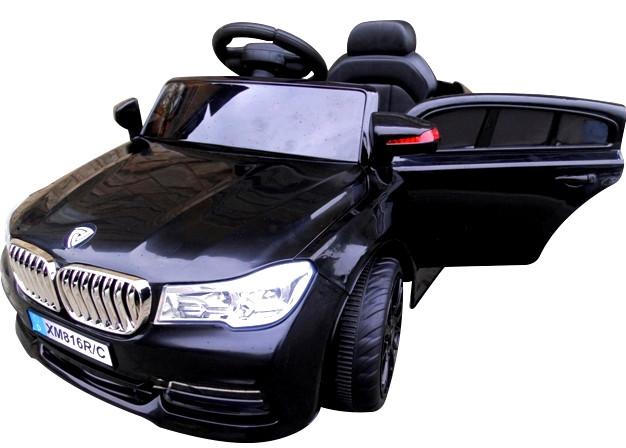 Електромобіль дитячий B4 з пультом управління, колесами EVA і м'яким сидінням чорний