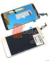 Модульный дисплей для Lenovo A6020a40 Vibe K5 | Экран + тачскрин золотистый оригинал PRC