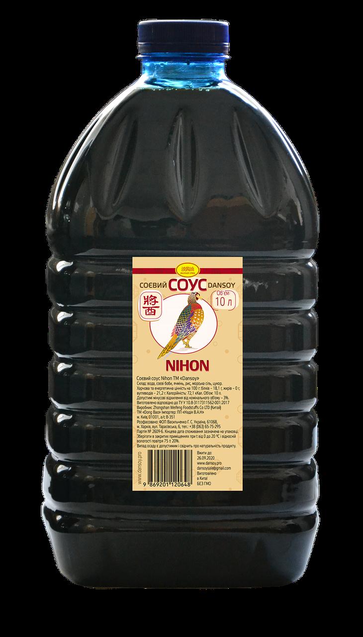 """Соевый соус """"DanSoy"""" Nihon, (ДанСой Нихон) 10 л., пэт,"""