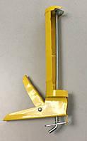 Пистолет для силикона полузакрытый (металл, желтый)