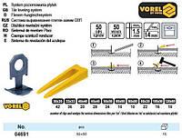 клипсы клинья Польша кліпси клини для плитки 50+50 штук VOREL-04691