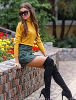 Юбка-шорты, женские шорты юбкой из замши. Размер универсальный S-M. Разные цвета., фото 1