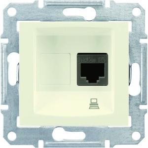 Розетка комп'ютерна RJ45 кат.5е UTP Sedna крем SDN4300123 Schneider Electric