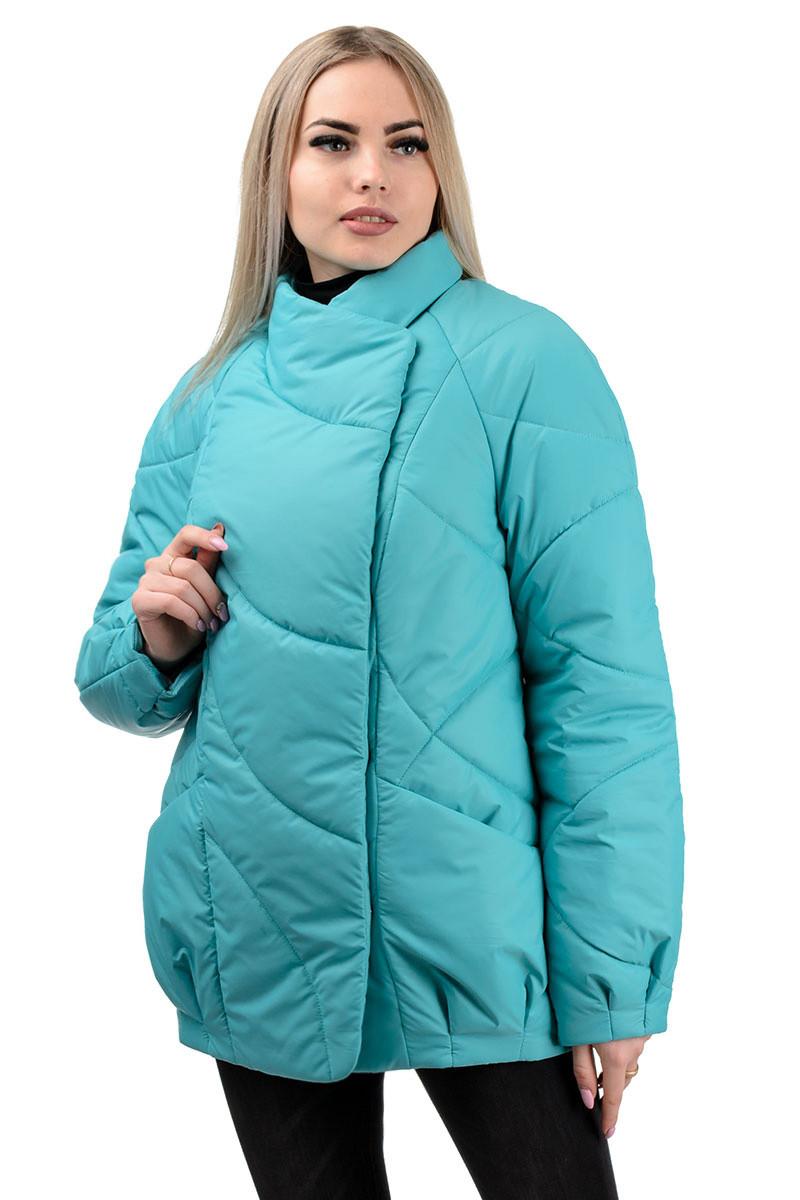 237 Демисезонная куртка «Эдита» бирюза (44-50)
