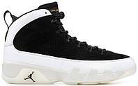 Баскетбольные кроссовки Air Jordan 9 LA Black/Summit White Найк Аир Джордан 9 в стиле белые