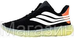 Мужские кроссовки adidas Sobakov Black/White в стиле Адидас черные