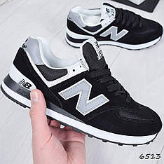 """Кроссовки мужские, черные в стиле """"New Balance"""" НАТУР. ЗАМША, мокасины мужские, кеды мужские, мужская обувь"""