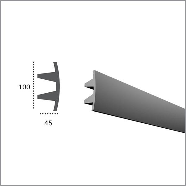 Карниз гибкий Tesori KF503 (100x45)мм