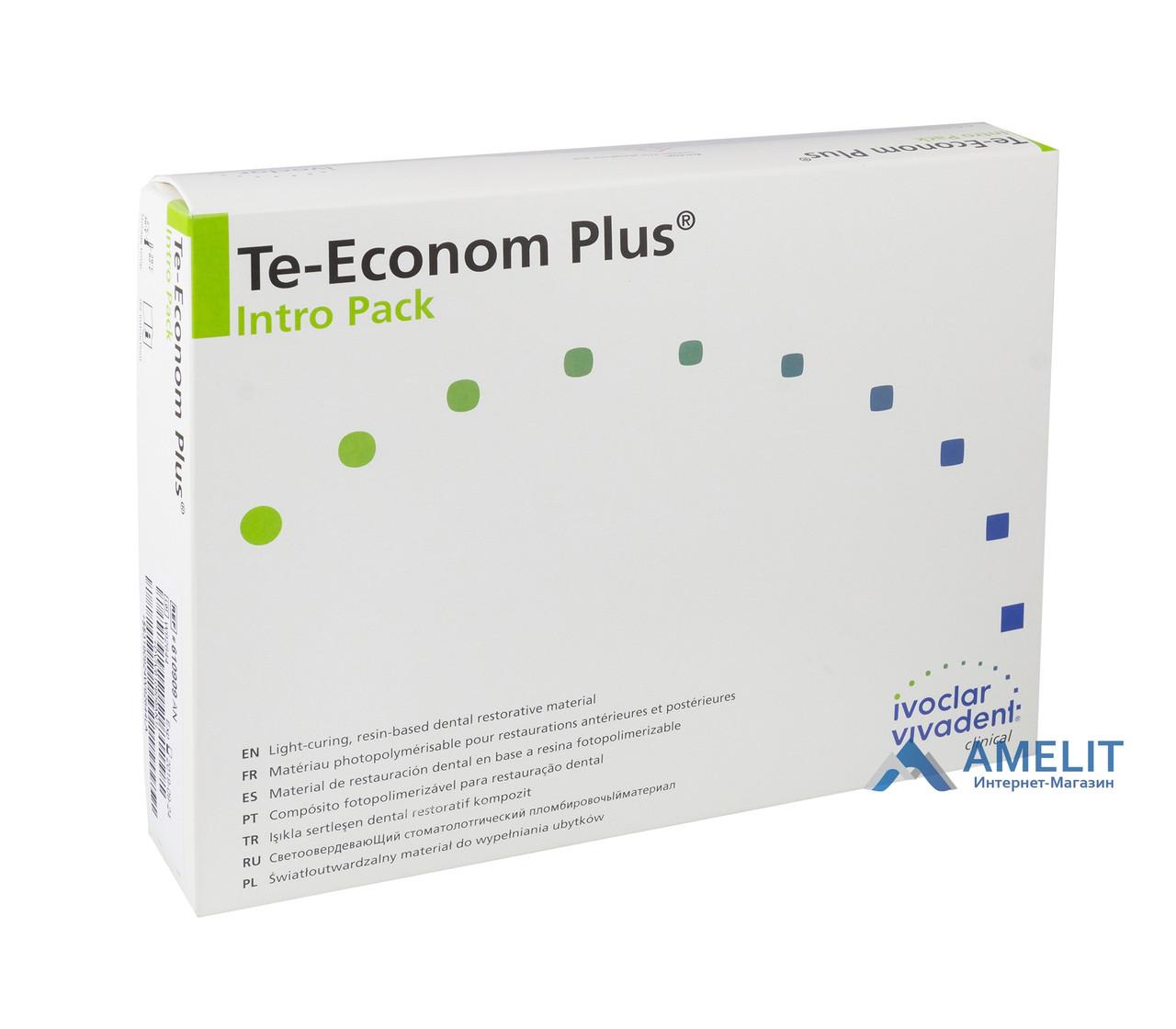 Тэ-Эконом Плюс (Te-Econom Plus, Ivoclar Vivadent), набор, 4 шприца по 4г + бонд + аксессуары