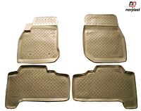 Lexus GS Оригинальные бежевые коврики LFMNP-L4751-BG