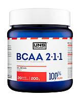 Аминокислоты UNS - BCAA 2:1:1 (200 грамм)