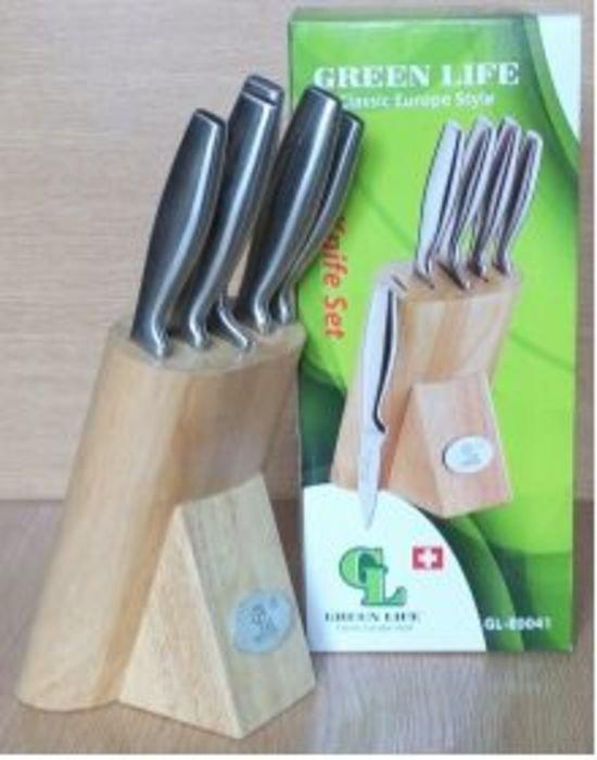 GL- 0041-1 Ножи с металлическими ручками (набор 6 шт)