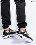 Женские кожаные кроссовки в леопардовом принте, фото 6
