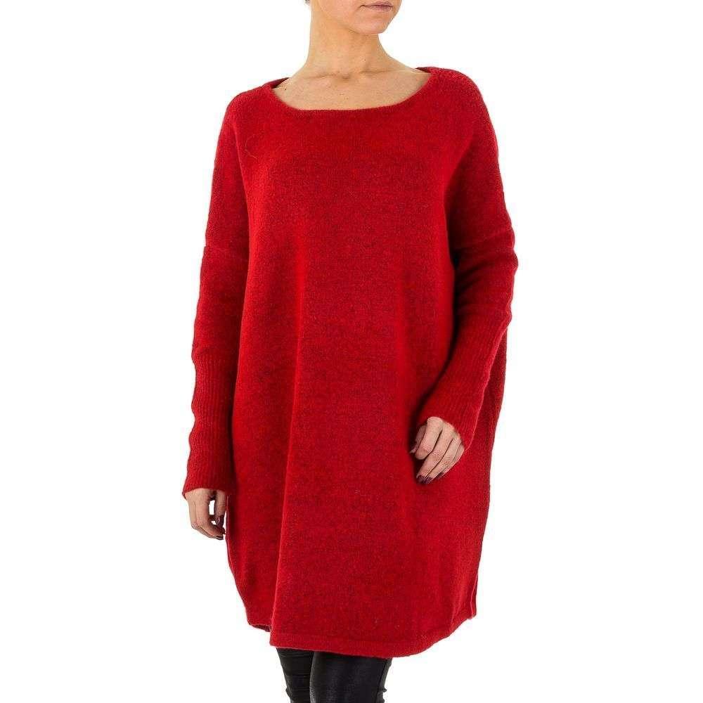 Женский джемпер платье оверсайз Shk Paris (Франция), Красный