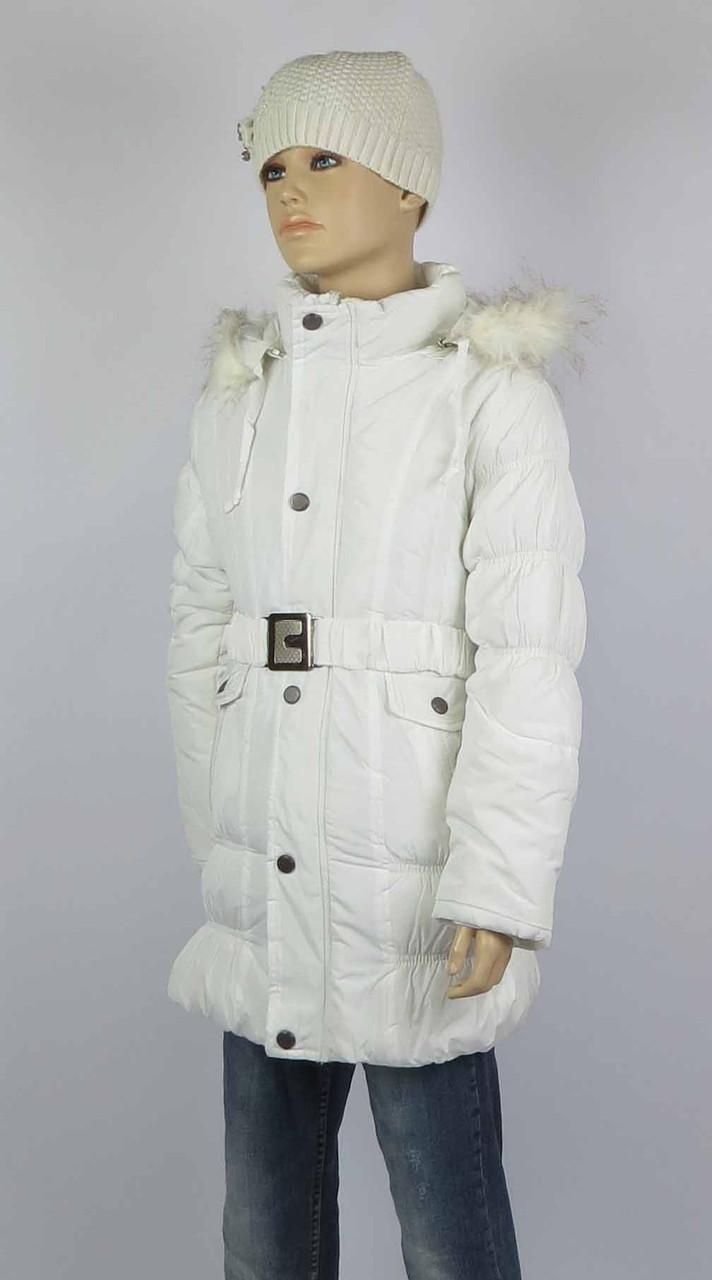 Пальто зимнее на девочку СУ-7096, 100% холлофайбер, размеры с 8до 14лет., фото 1