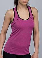 Майка жіноча спортивна на широких бретельках рожева розмір L, XL
