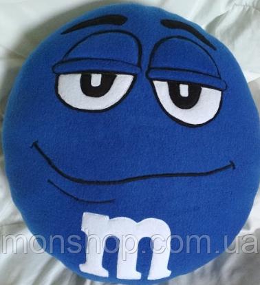 Подушка M&M синій (45 см)