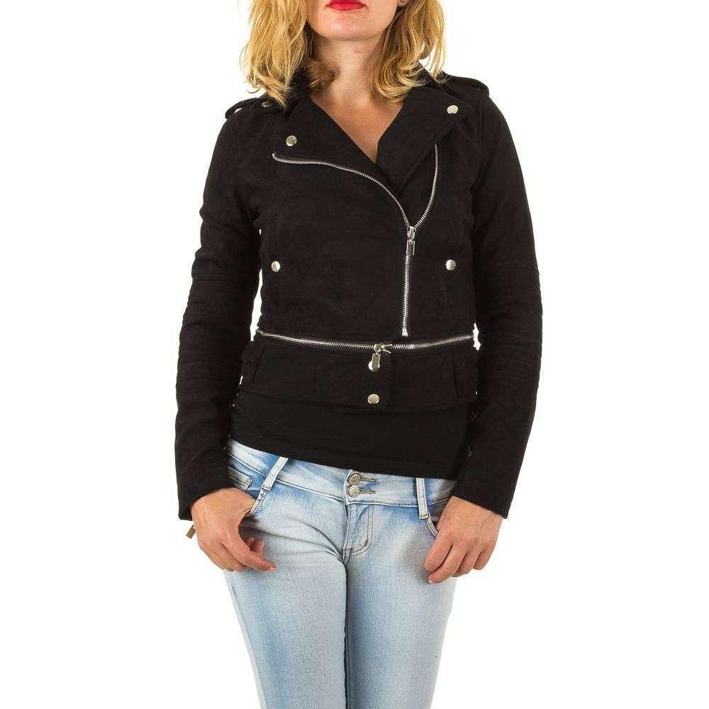 Куртка косуха трансформер женская декорированная молниями (Европа), Черный