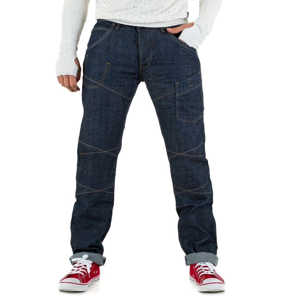 Мужские джинсы от One Two Jeans, размер 31 - синий - KL-H-F221-синий 31