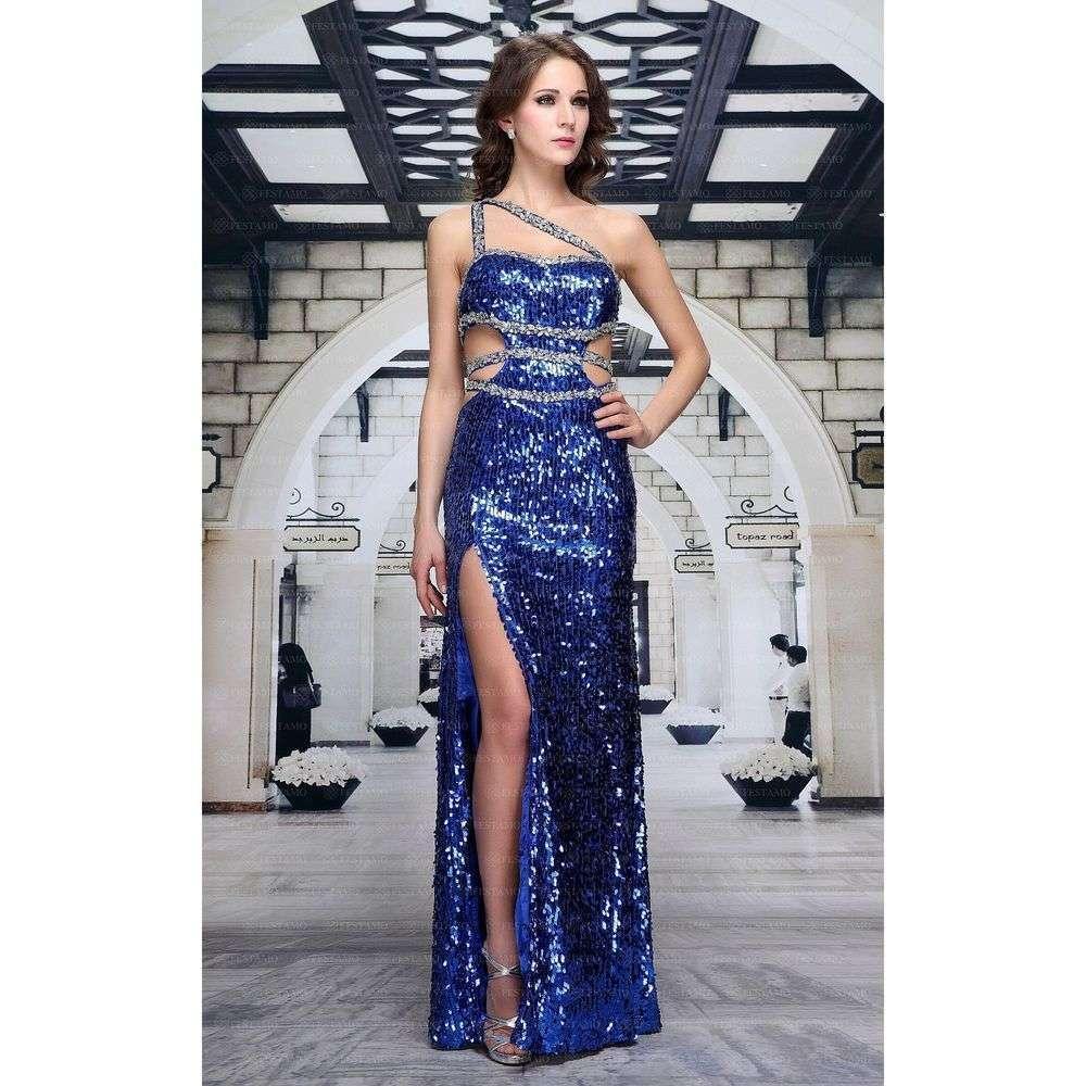 Женское платье из Festamo - royalblue - Мкл-F3900-royalblue