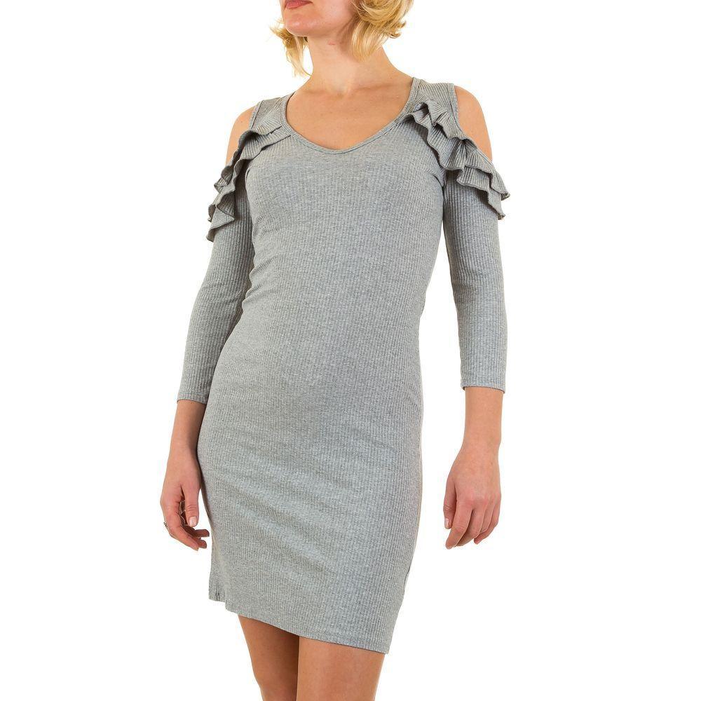 Женское платье - серый - KL-JW063-серый