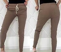 Трикотажные спортивные женские штаны с карманами