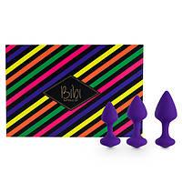 FeelzToys Bibi Butt Plug Set 3 pcs Purple