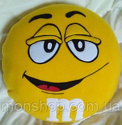Подушка M&M желтый (45 см)