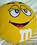 Подушка M&M жовтий (45 см), фото 2