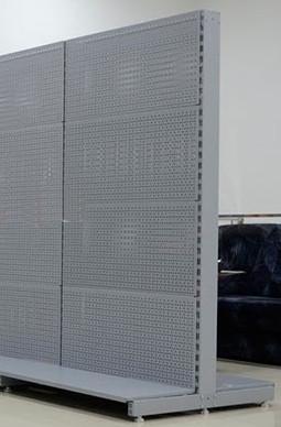 Торговий металевий стелаж двосторонній перфорований висотою 1950мм шириною 950 мм глубиною 400мм