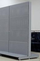 Торговий металевий стелаж 1950х950 двосторонній перфорований