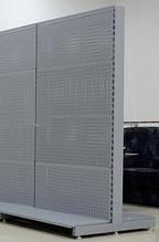 Торговий металевий стелаж 1950х950 односторонній перфорований