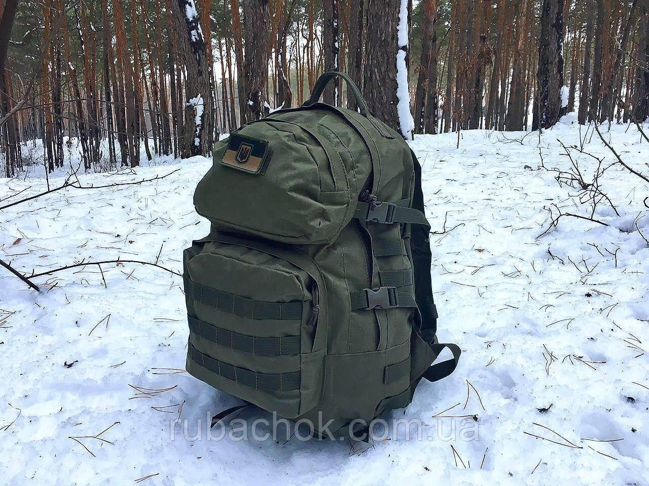 Тактический походный крепкий рюкзак 40 литров афган. Нейлон 600 Den.