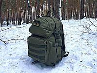 Тактический походный крепкий рюкзак 40 литров афган. Нейлон 600 Den., фото 1
