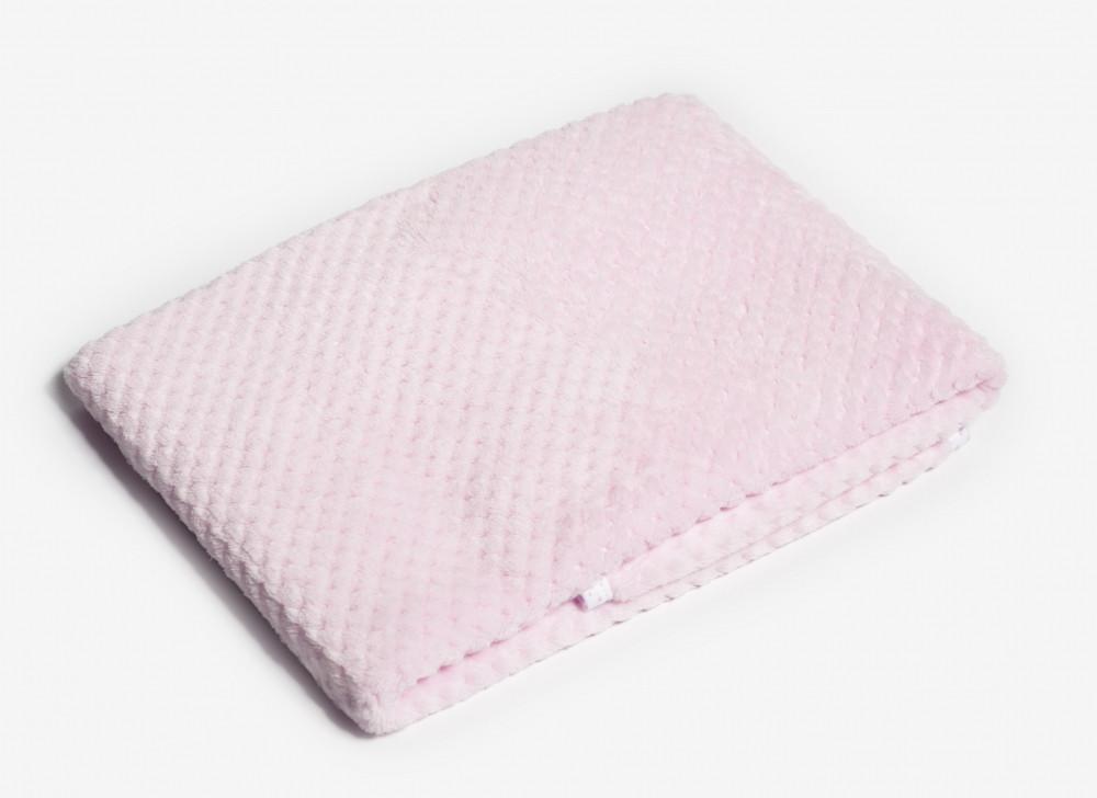 Плед Twins жакард 80*104 нежно розовый