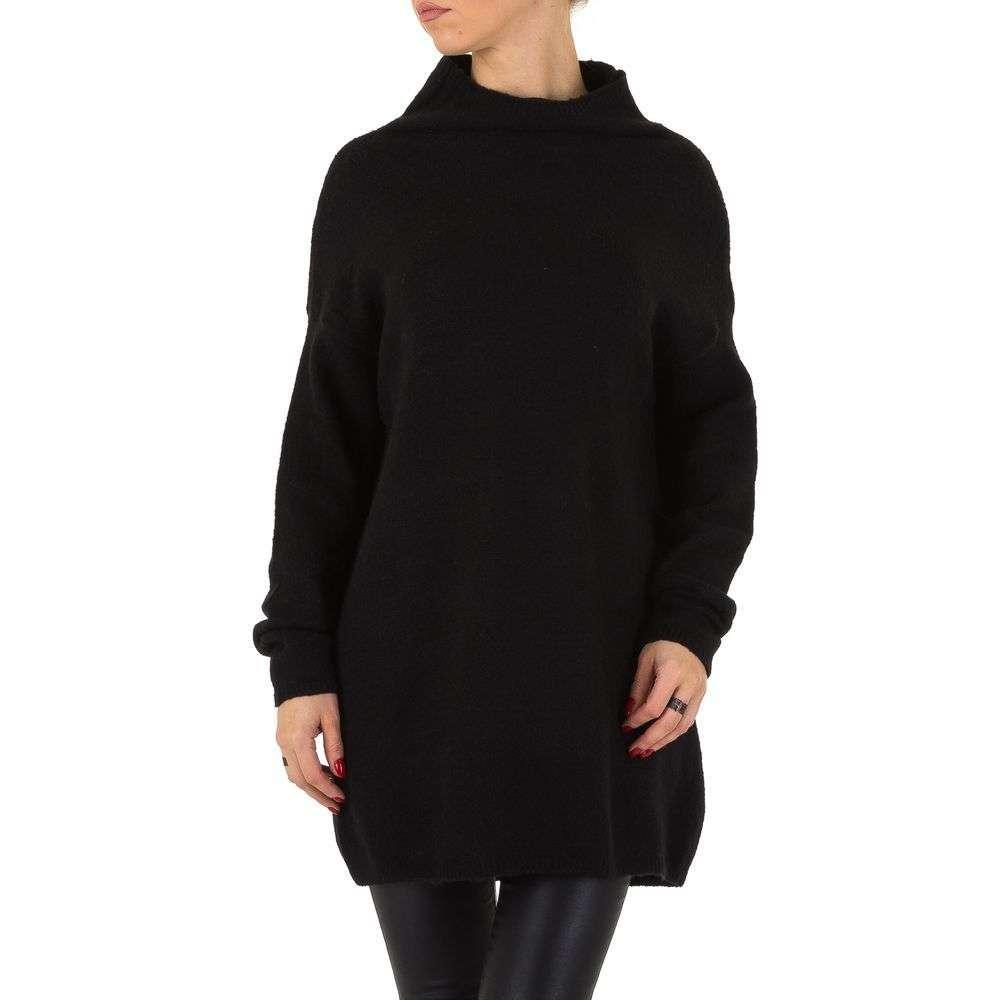 Женский свитер оверсайз удлиненный Shk Paris (Франция), Черный