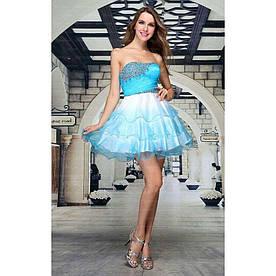 Женское платье от Festamo - lightskyblue - Мкл-F2823-lightskyblue