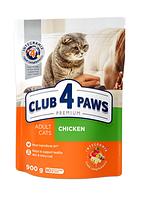Корм для котов Клуб 4 лапы Premium с курицей, 14 кг