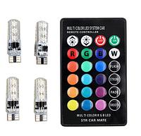 Светодиодная подсветка салона автомобиля с пультом ДУ RGB 5050 SMD T10 194 168 W5W