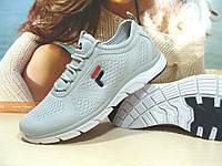 Мужские кроссовки Fila (реплика) светло-серые 43 р., фото 1