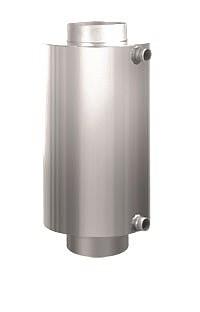 Теплообменник на дымоход Ø 115 L= 526 мм для бани и сауны