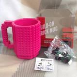 Чашка/Кружка конструктор  Lego брендовая Оранжевая 400 мл, фото 2