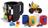 Чашка/Кружка конструктор  Lego брендовая Оранжевая 400 мл, фото 5