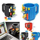 Чашка/Кружка конструктор  Lego брендовая Оранжевая 400 мл, фото 7