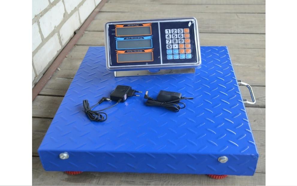 Бездротові електронні торгові ваги до 600 кг 50*60 з Wifi, платформні ваги базарні