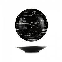 "Тарелка глубокая "" Темный Камень"" 255 мм Helios G1705"
